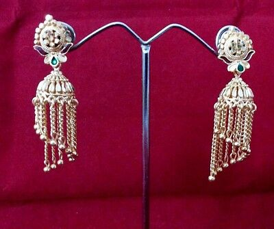 Indian Ethnic Bollywood Small Jhumka Jhumki Fashion Jewelry Gold Plated Earrings