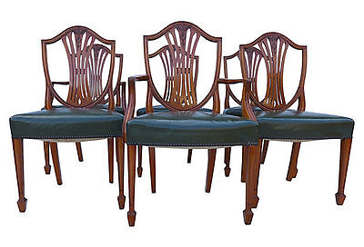 Antique Mahogany Dining Chairs Set of 6