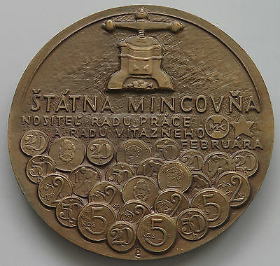CZECHOSLOVAKIA MEDAL 1988 660 YEARS OF KREMNICA  79MM  198 G #pag 131