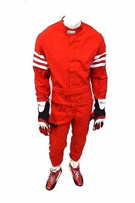 Rjs Racing Sfi 3-2A/1 New Classic 1 Piece Suit Small Fire Suit Red 200040403