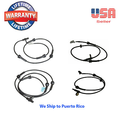 SET of 4 ABS Speed Sensor Front /& Rear For NISSAN Titan 2004-2007 8 Cyl 5.6L
