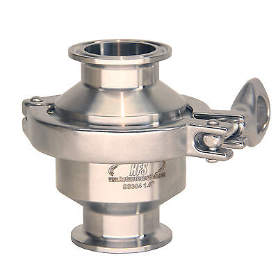 """HFS 1.5"""" Sanitary Check Valve - One Way Flow - Tri Clamp Clover Stainless Steel"""