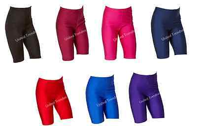 Girls Boys Kids Lycra Sports Cycling Shorts School Gym PE Games Dance Shorts