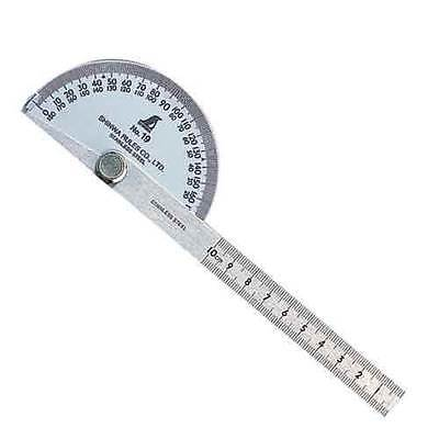 SHINWA SILVER Blade Protractor No.19 62480