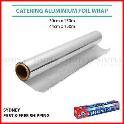 Aluminium Foil Wrap Roll Catering Kitchen Heavy Duty 30cm 44cm x 150m Cast Away