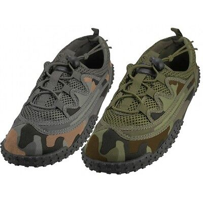 5be5345ed909d Men's Laced Up Camouflage Water Shoes Aqua Socks For Pool, Beach Size 7  Thru 13