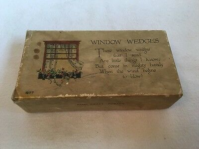 Antique Window Wedges Rust Craft Boston in Original Box - Very Cool Collectible!