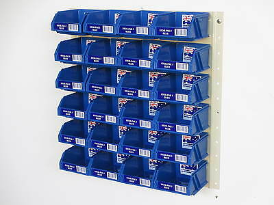 Fischer Stor-Pak Plastic Boxes with Brownbuilt Metal Louvre Panel Starter Kit