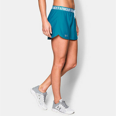 Under Armour Play Up Womens Blue Running Work Out Shorts Pants Bottoms
