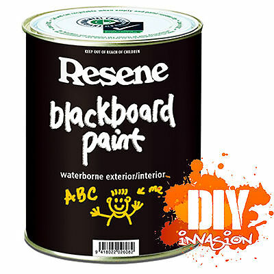 Resene 1L Black Chalkboard Blackboard Chalk Type Paint Arts & Crafts Supplies