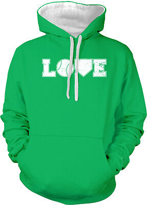 Love Baseball Ball Home Plate Americas Pastime Homeruns Pitch Hoodie Pullover
