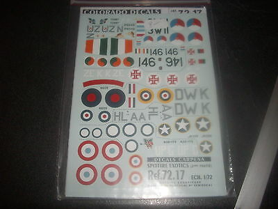 Carpena Decals Spitfire Exotics Part 2  Ref 72-17