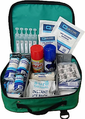 Qualicare Sports First Aid Kit-Outdoor,Emergency,Premium Includes 88 Items