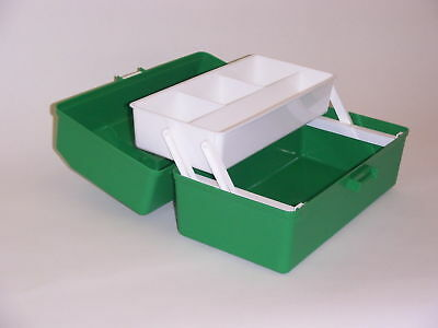 Fischer Plastic Products Green First Aid / Safety Box with One Tray 1H-144GN