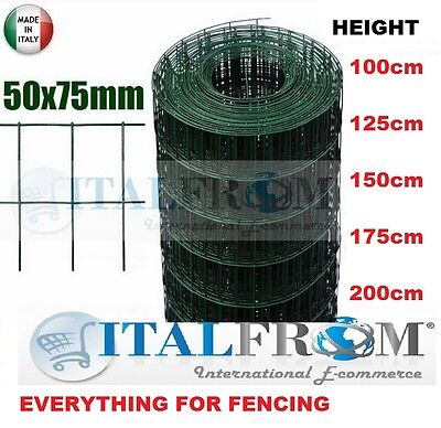 25mt-galvanized green PVC welded wire mesh rolls-mesh 5x7.5cm for fencing