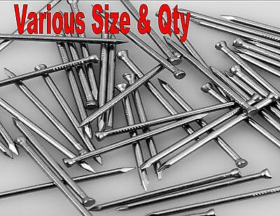HEAVY DUTY GALVANISED U NAILS FENCING POINTED CHICKEN WIRE x 100 - 15mm - 30mm