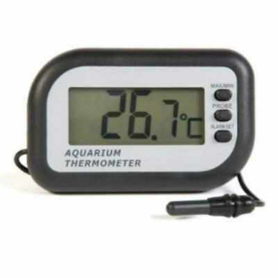 ETI Digital Aquarium Thermometer with Alarm, Reads C and F, Saves Fish!