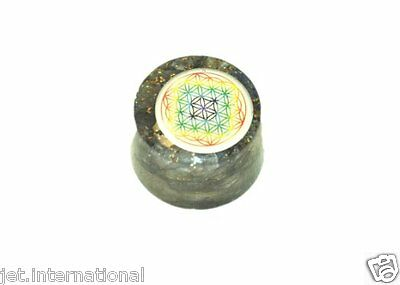 Wow Blue Aventurine Flower of Life Orgone Tower Buster Piezo Electric EMF