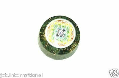 Marvelous Green Mica Flower of Life Orgone Tower Buster Jade Piezo Electric EMF