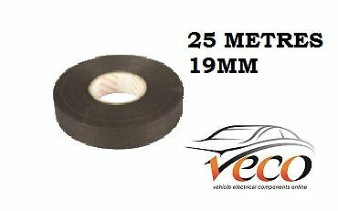 Self Adhesive Textile Cloth Fleece Harness Tape Wiring Loom 19Mm 25Metre X1 Roll