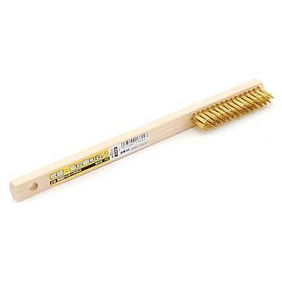 SK11 Brass Wire Brush Wood Handle No.8