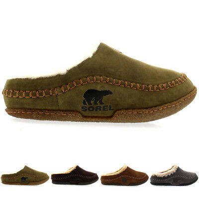 Mens Sorel Falcon Ridge Casual Fur Suede Winter Shoes House Slippers All Sizes