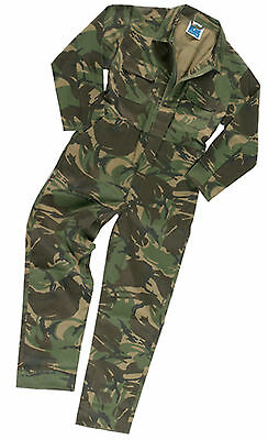 Kids Boys Girls Army Camo Camouflage Overall Boilersuit Coverall