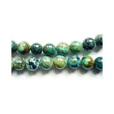 Strand Of 45+ Blue/Green African Turquoise 8mm Plain Round Beads GS1571-3