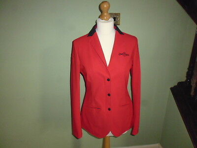 Cavalleria Toscana Ladies Technical Competition Show Jacket red size 44 or UK 12
