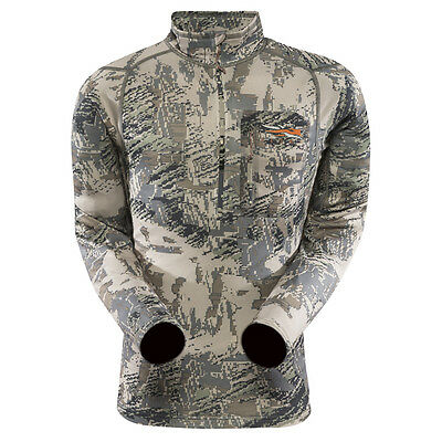 Sitka Optifade Open Country Core Midweight Zip-T Long Sleeve Shirt (10036-Ob)