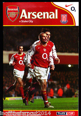 2004/05 ARSENAL V STOKE CITY 09-01-2005 FA Cup 3rd Round