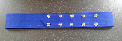Sikh Nihang Singh Khalsa Adjustable Belt Kamarkasa No Loop Royal Blue Waist Belt