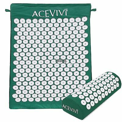 Hot Acupressure Massage Meditation Yoga Mat Pillow Relax Stress Pain Relief LEBB