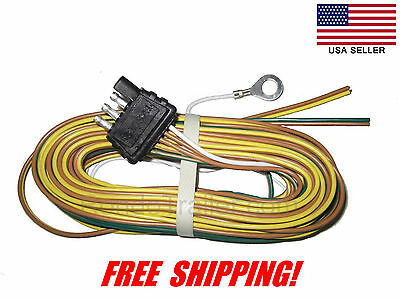 universal molded trailer light plug wiring harness 7 way rv 4 trailer wire harness 4 way plug flat 25 trailer wiring harness 425yh