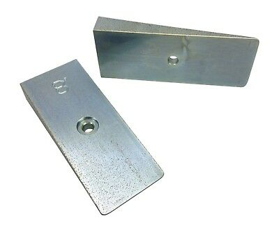 """Axle Shims, 8 degree, 2"""" wide, steel wedge, caster pinion angle  WFO 8.0-2"""