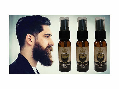 By My Beard - Beard Oil 30m x3 TRIPLE PACK- Non Greasy Formula, Clean Soft Hair