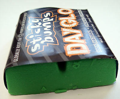 Sticky Bumps Day Glo Surf Wax - Warm / Tropical (Green) Mens Unisex Surfing Surf