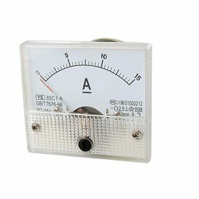 85C1 0-15A DC Amperemetre analogique rectangle WT
