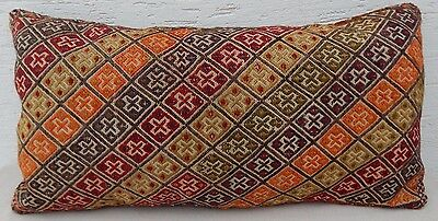 18x33 Vintage Handmade Ottoman Decor Sitting Kilim Pillow Cover,Giant Cushion