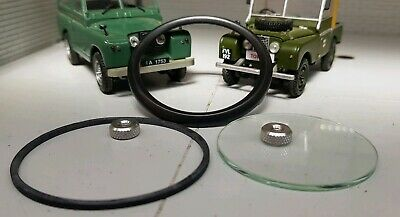 Land Rover Series 1 2 Smiths Gauge Reconditioning Kit Glass Seal Black Bezel 2""