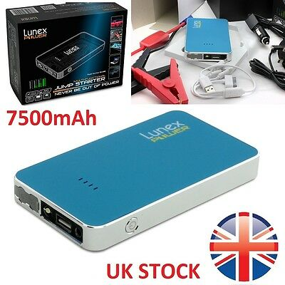 LUNEX 7500 mAh 12V Car Jump Starter Pack Booster Charger Battery Mini Power Bank