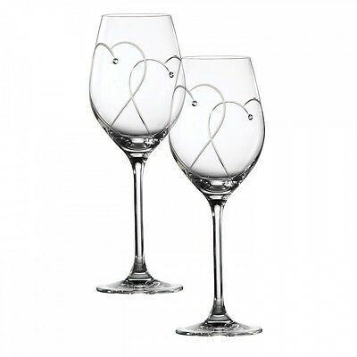 Royal Doulton Two Hearts Entwined Wine Glasses - Pair