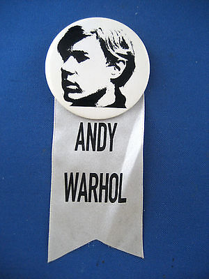 Andy Warhol Pinback Button & Ribbon