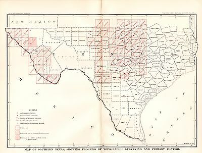 1905 Map of Southern Texas USGS Topographic Survey