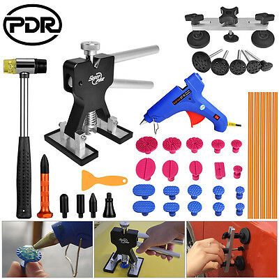 Super PDR Tools Black Dent Lifter Paintless Dent Hail Repair Removal Gun Set Kit