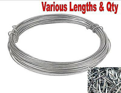 Heavy Duty Galvanised Wire U Nails Fencing Netting Staples Fence Plant Garden