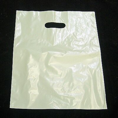 """300 12""""x15"""" White Glossy Low-Density Plastic Merchandise Bags Wholesale Bags"""