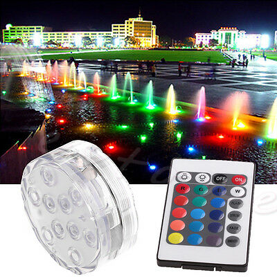 Waterproof LED RGB Submersible Light Christmas Party Vase Lamp +Remote Control