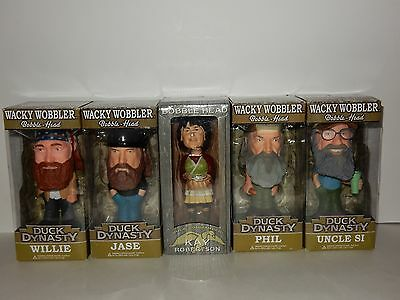 Duck Dynasty Bobble Head Figure Set ~ Willie Si Kay Jase Phil **NEW**