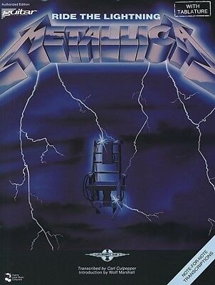 METALLICA - Ride The Lightning Guitar TAB Book *NEW* Music Songbook Tablature